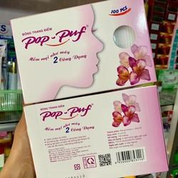 Combo 2 Hộp Bông tẩy trang Pop-Puf  Trang điểm + tẩy trang 100 Miếng-Hộp - Thanh Loan
