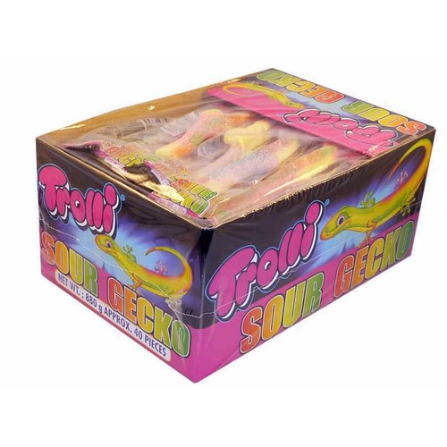 Kẹo dẻo trolli sour gecko - 760g 40 cái