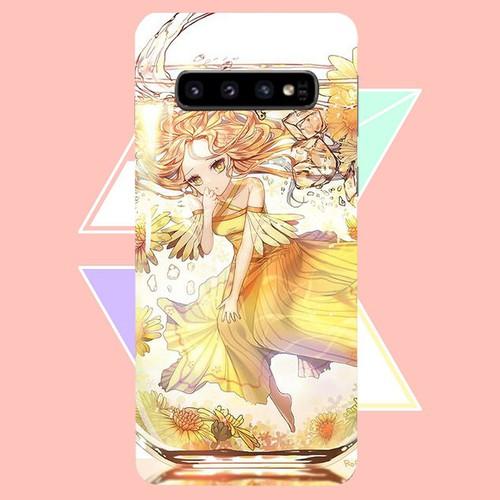 Ốp điện thoại dành cho máy samsung galaxy s10 plus - cô bé trong chiếc lọ thủy ms cbtcl004