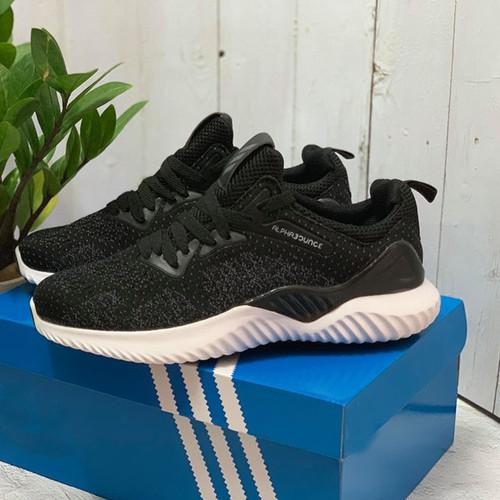 Giày alphabouce sneaker đế cao màu đen chất đẹp full box