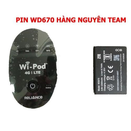 Pin wd670 dành riêng cho bộ phát wifi zte