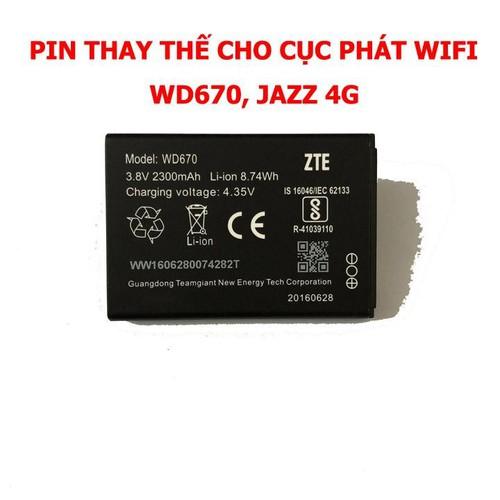 Pin wd670,jazz 4g dung lượng lớn - dùng cực bền
