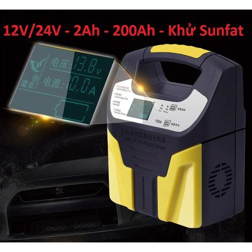 Máy nạp ắc quy tự động - siêu sạc acquy 12v - 24v 200ah - sạc có tạo xung khử sunfat - 13112519 , 21183941 , 15_21183941 , 450000 , May-nap-ac-quy-tu-dong-sieu-sac-acquy-12v-24v-200ah-sac-co-tao-xung-khu-sunfat-15_21183941 , sendo.vn , Máy nạp ắc quy tự động - siêu sạc acquy 12v - 24v 200ah - sạc có tạo xung khử sunfat