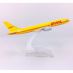 MÔ HÌNH MÁY BAY TĨNH B757 DHL AIRLINES 16CM