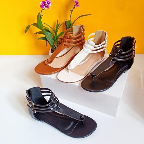 giày sandal bệt chiến binh  kéo khóa sausieu xinh