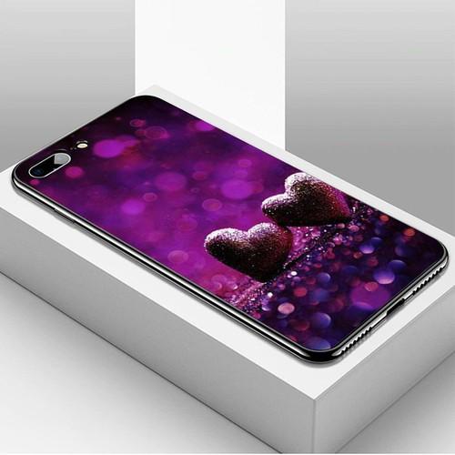 Ốp điện thoại dành cho máy iphone 7 plus  -  8 plus - trái tim tình yêu ms love086