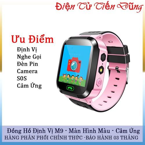 Đồng hồ định vị q90 nghe gọi 2 chiều có camera cảm ứng đèn pin màn hình màu