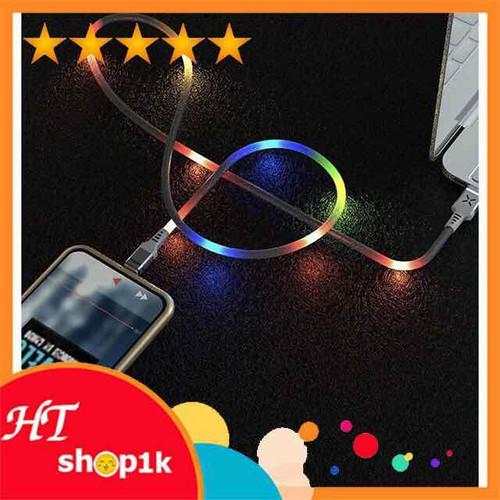 Cáp sạc nhanh 2.4a có đèn phát sángdây cáp sạc cho iphone và samsung