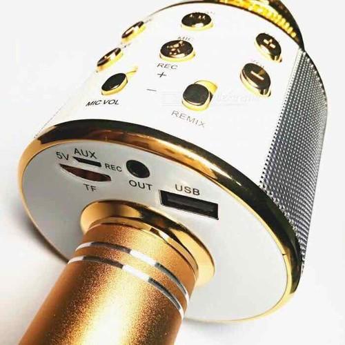 Mic hát karaoke bluetooth không dây ws858 tặng 1 dây nối ra loa ngoài 25k