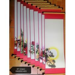 10 tờ giấy +10 CẶP nẹp viêt thư pháp 27cmx79cm
