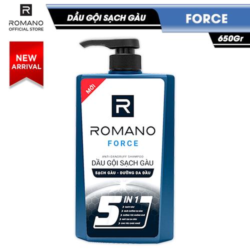 Dầu gội sạch gàu romano force mạnh mẽ tự tin loại bỏ & ngăn gàu trở lại 650gr - 13122254 , 21197123 , 15_21197123 , 164000 , Dau-goi-sach-gau-romano-force-manh-me-tu-tin-loai-bo-ngan-gau-tro-lai-650gr-15_21197123 , sendo.vn , Dầu gội sạch gàu romano force mạnh mẽ tự tin loại bỏ & ngăn gàu trở lại 650gr