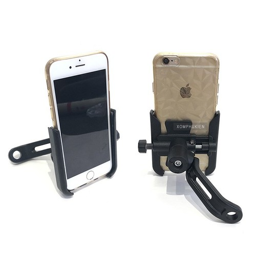 Giá kẹp điện thoại gắn chân gương xe máy