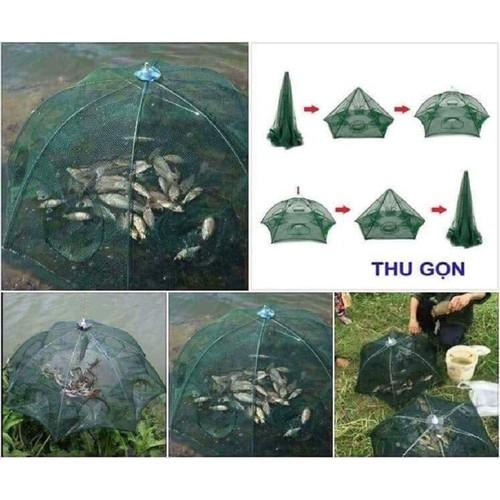 Lưới bắt cá bát quái 8 lỗ