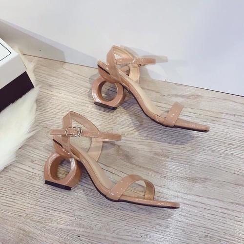 [ siêu sale ] giày sandan gót tròn hot trend 2019
