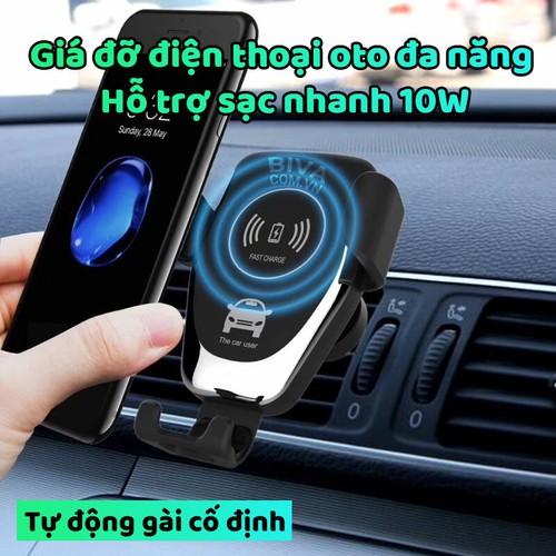 Giá đỡ điện thoại trên ô tô hỗ trợ sạc nhanh 10W