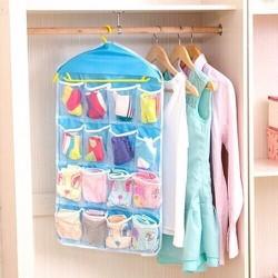 Túi treo đồ 16 ngăn có thể móc dễ dàng treo gọn ở góc nhà hoặc tủ quần áo 78*42 cm, S&T