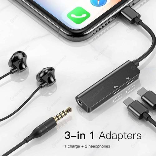 Cáp chuyển đổi Lightning ra 2 Lightning + Audio 3.5mm Baseus L52