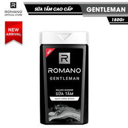 Sữa tắm Romano Gentleman lịch lãm nam tính sạch sảng khoái 180gr