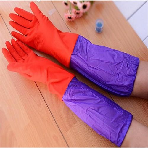 Găng tay cao su lót nỉ giữ ấm và bảo vệ bàn tay