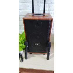 loa kéo Kiomic k88 sài bình thùng gỗ kèm 2 mic - kk88