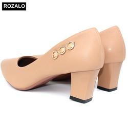 Giày Công Sở Nữ – Giày Cao Gót Nữ – Giày Nữ SODOHA SDH-1259 Nâu Vàng