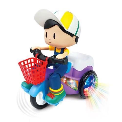 đồ chơi xe đạp cho bé xoay 360 độ có nhạc và đèn