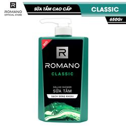 Sữa tắm Romano Classic cổ điển lịch lãm phiên bản deluxe sạch sảng khoái 650gr