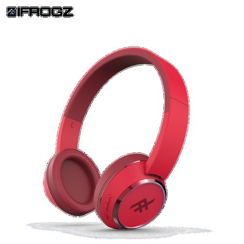 Tai nghe ifrogz không dây headphone audio coda red