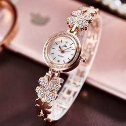 Đồng hồ nữ JW dây lắc hình cỏ 4 lá đính đá thời trang