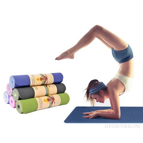 Thảm yoga 2 lớp hoa văn xịn