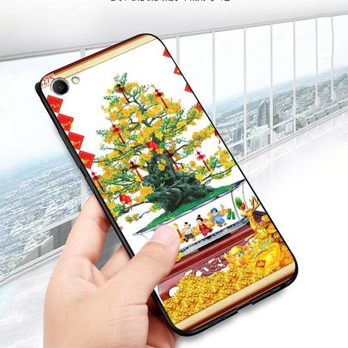 Ốp lưng cứng viền dẻo dành cho điện thoại oppo f3 plus - tranh mai đào ms mdao007