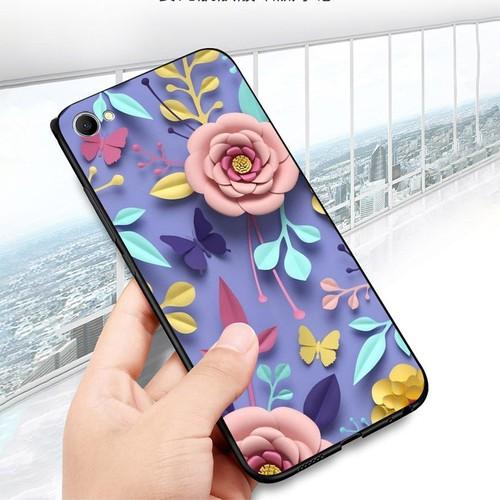 Ốp lưng cứng viền dẻo dành cho điện thoại oppo f3 plus - hoa nghệ thuật ms hnt008