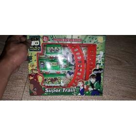 Bộ đồ chơi xe lửa Ben10 và đường ray bằng nhựa tặng kèm pin - 1 bộ xe lửa ben10