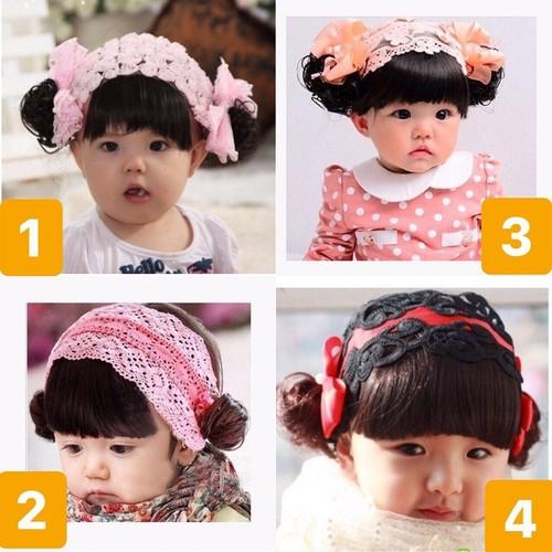 Băng đô tóc giả cho bé 0-3 tuổi - bđ