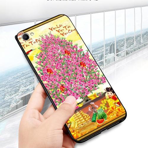 Ốp điện thoại oppo f7 youth  -  realme 1 - tranh mai đào ms mdao028