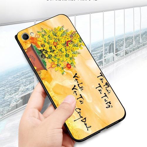 Ốp điện thoại dành cho máy oppo f7 youth  -  realme 1 - tranh mai đào ms mdao002
