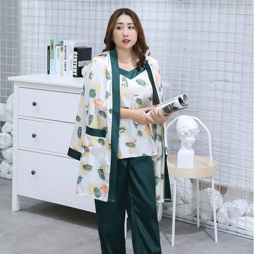 Yc133 - bộ mặc nhà pyjama 3ct nữ cho người mập