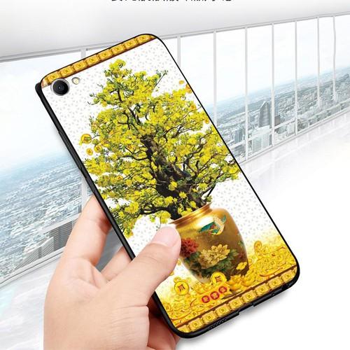 Ốp điện thoại oppo f7 youth  -  realme 1 - tranh mai đào ms mdao022