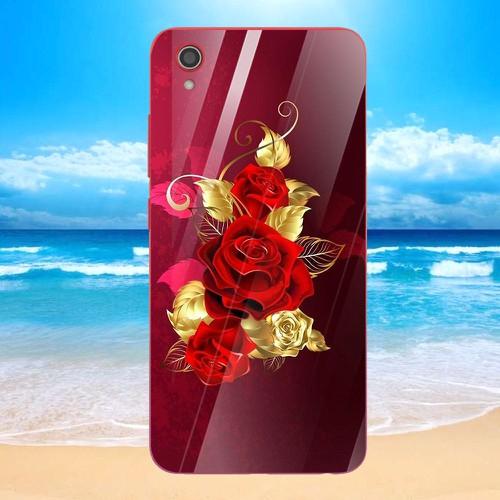 Ốp điện thoại kính cường lực cho máy vivo y91c - gold roses ms rsd020