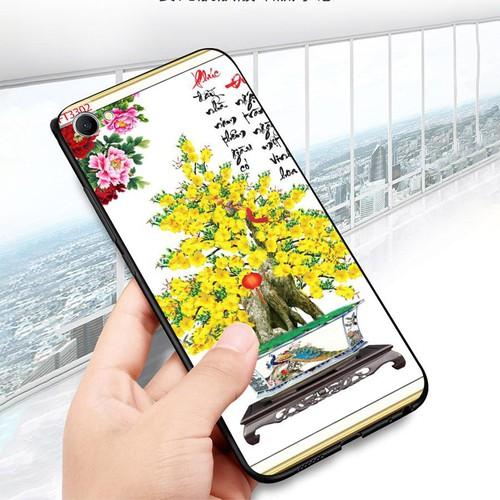 Ốp lưng điện thoại oppo f7 youth  -  realme 1 - tranh mai đào ms mdao036