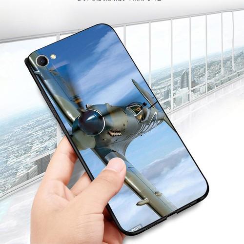 Ốp lưng cứng viền dẻo dành cho điện thoại oppo r9s - máy bay xe tăng ms mbxt029