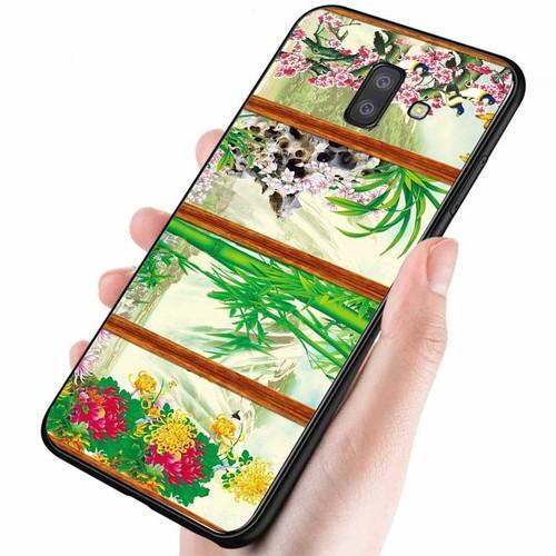 Ốp lưng cứng viền dẻo dành cho điện thoại samsung galaxy a5 2018 - a8 2018 - tứ quý ms tuquy005