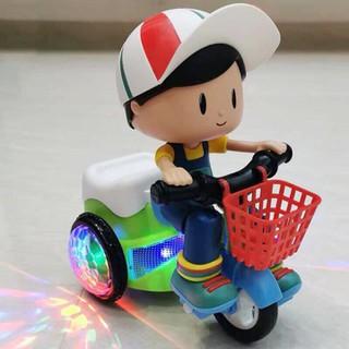 Đồ chơi em bé đi xe đạp có nhạc - Đồ chơi xe đạp có nhạc bánh xe phát sáng - Đồ chơi xe đạp có nhạc thumbnail
