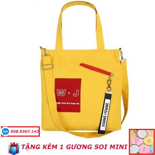Túi tote đẹp giá rẻ + tặng kèm gương soi mini
