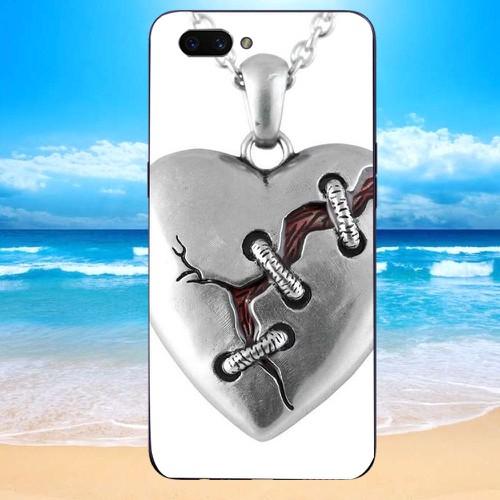 Ốp lưng cứng viền dẻo dành cho điện thoại oppo r11 - trai tim ms ttty017