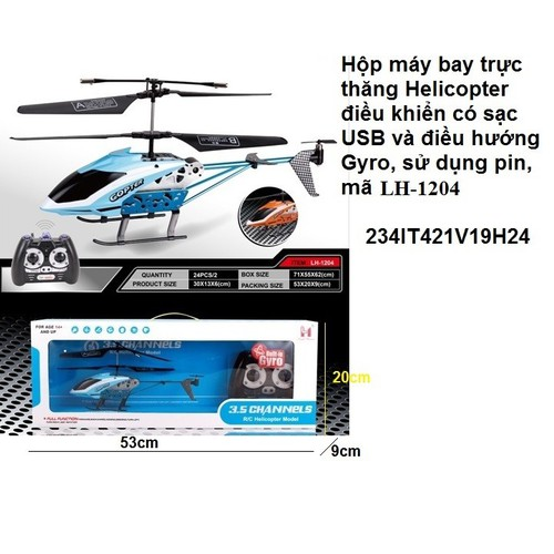 Máy bay trực thăng điều khiển  hellicopter có điều hướng gyro