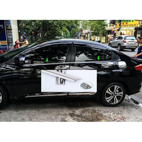 Nẹp 4 chân kính honda city 2015-2019