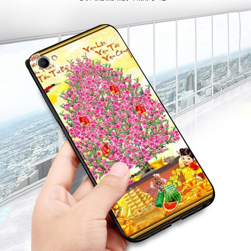 Ốp điện thoại dành cho máy oppo f7 youth  -  realme 1 - tranh mai đào ms mdao013