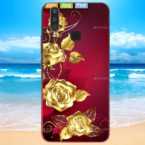Ốp điện thoại dành cho máy vivo y17 - gold roses ms rsd014
