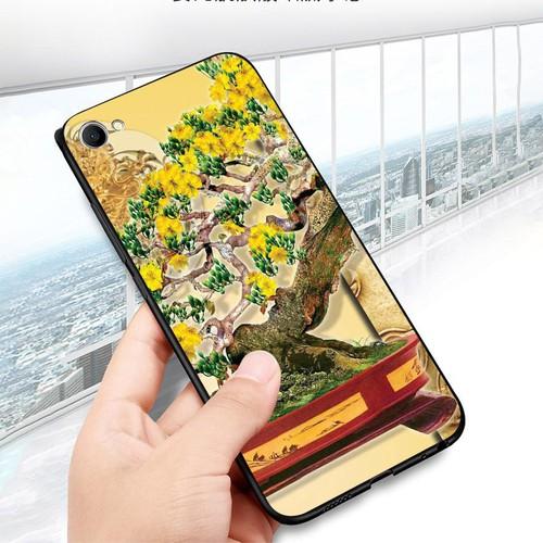 Ốp điện thoại oppo f3 plus - tranh mai đào ms mdao035